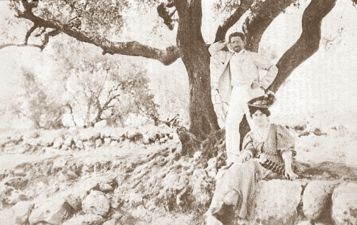 Devora og Eliezer Ben-Yehuda i Jerusalem - 1881