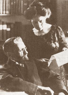 Eliezer Ben-Yehuda med sin anden kone Hemda